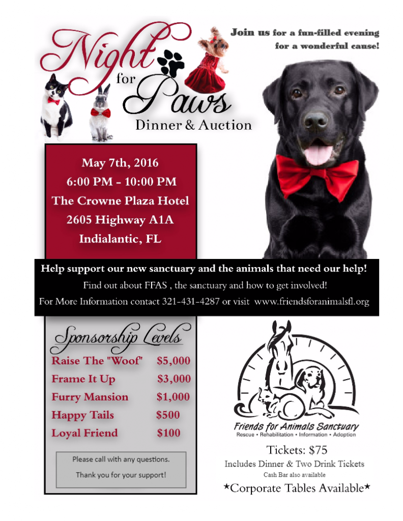 Night for Paws Dinner And Auction