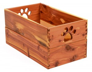 wooden pet toybox